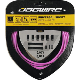 Jagwire Sport Universal Brake Cable Set for Shimano/SRAM pink